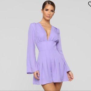 Lavender Fashion Nova Romper